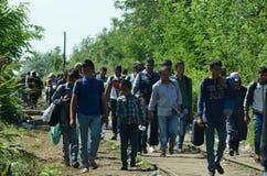 Migranten von Syrien lizenzfreies stockbild