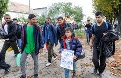 Migranti di Medio Oriente fotografia stock libera da diritti