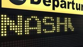 Migrar a Nashville na placa das partidas do aeroporto internacional Viagem à introdução conceptual do Estados Unidos ilustração royalty free