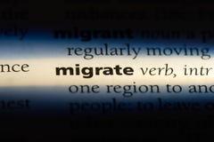 migrate fotografering för bildbyråer