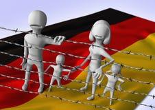 Migratie aan het concept van Europa - crisis in Duitsland Royalty-vrije Stock Foto's