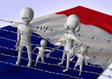 Migratie aan het concept van Europa - crisis in Frankrijk Stock Fotografie