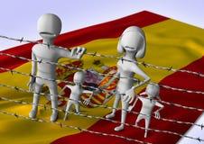 Migratie aan het concept van Europa - crisis in Spanje Stock Afbeeldingen