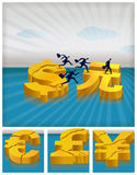 Migrating investments Stock Image
