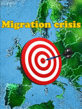Migration crisis in Europe Stock Photos