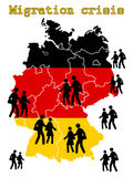 Migration crisis in Germany Royalty Free Stock Photos