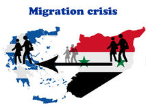 Migration crisis in Greece Royalty Free Stock Photography