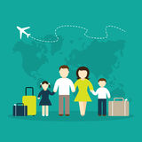Migration illustration Stock Photography