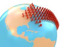 Migration To USA Stock Image