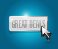 Migreat deals button sign concept illustration Royalty Free Stock Image