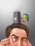 Migrena royalty ilustracja