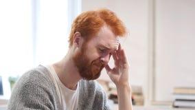 Migrena, czasu mężczyzna przy pracą Obraz Royalty Free
