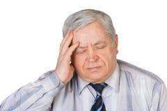 migrena mężczyzna Zdjęcie Stock