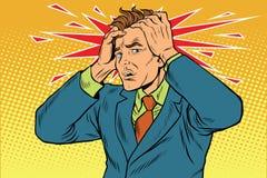 Migrena mężczyzna surowy ból ilustracji