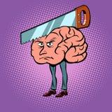 Migrena Saw w mózg royalty ilustracja