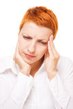 migreny kobieta Zdjęcie Stock