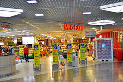 Migros swiss grocery store Stock Photos