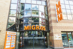 Migros swiss grocery store Royalty Free Stock Photos