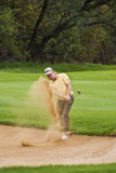 Miguel Angel Jimenez - Bunker Shot Royalty Free Stock Photos