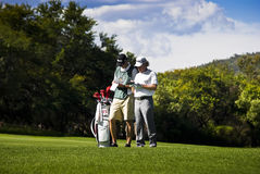 Miguel Angel Jimenez & Caddy Stock Photography