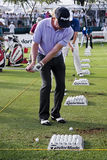 Miguel Angel Jimenez - Practice Tee Stock Photo
