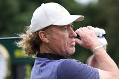 Miguel Angel Jimenez at the Seve Trophy 2013 Stock Photo