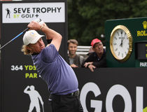 Miguel Angel Jimenez at the Seve Trophy 2013 Stock Images
