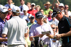 Miguel Angel Jimenez (SPA) and Peter Hanson Royalty Free Stock Images