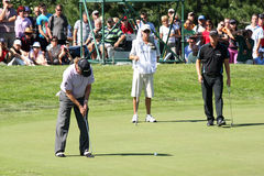Miguel Angel Jimenez (SPA) and Peter Hanson Royalty Free Stock Photo