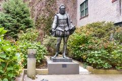 Miguel de Θερβάντες Statue Στοκ φωτογραφία με δικαίωμα ελεύθερης χρήσης