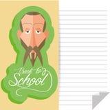 Miguel De Cervantes Cartoon Portrait divertido stock de ilustración