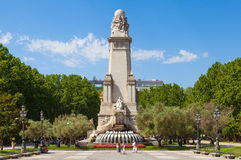 Miguel de Cervantes Monument in Madrid Royalty Free Stock Photo