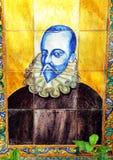 Miguel de Cervantes, mosaïque photo libre de droits