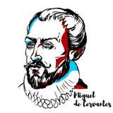 Miguel de Cervantes Portrait ilustração do vetor