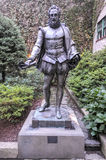 Miguel de Cervantes Statue New York City Royaltyfri Foto