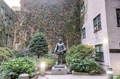 Miguel de Cervantes Statue New York City Royaltyfria Bilder