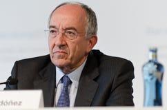 Miguel Fernández Ordóñez, banko De Stockfotos