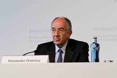 Miguel Fernández Ordóñez, De banco Image stock