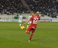 Miguel Gonzalez From Girona F.C. match league Royalty Free Stock Photo
