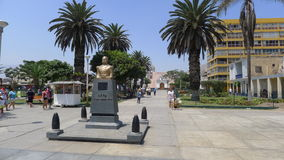 Miguel Grau statue in Ancon,  north of Lima Royalty Free Stock Image