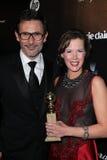 Miguel Hazanavicius, Adria Tennor Foto de archivo