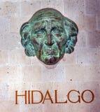Miguel Hidalgo Bust Alhondiga de Granaditas Guanajuato Mexiko stockbild