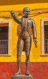 Miguel Hidalgo Statue Alhondiga de Granaditas Guanajuato México imagen de archivo libre de regalías
