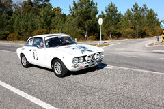 Miguel Jerónimo participating in classic rally Stock Photography