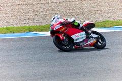 Miguel Oliveira πειραματικό 125cc του MotoGP Στοκ φωτογραφία με δικαίωμα ελεύθερης χρήσης