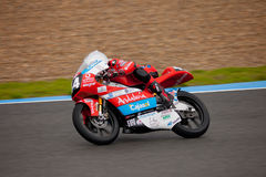 Miguel Oliveira pilot of 125cc in the CEV Royalty Free Stock Images