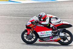 Miguel Oliveira  pilot of 125cc  of the MotoGP Stock Images