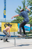 Miguel Pinto during the DC Skate Challenge Royalty Free Stock Images