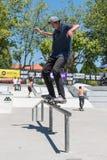 Miguel Pinto durante la sfida del pattino di CC Fotografia Stock