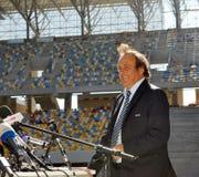 Miguel Platini en Ucrania fotos de archivo